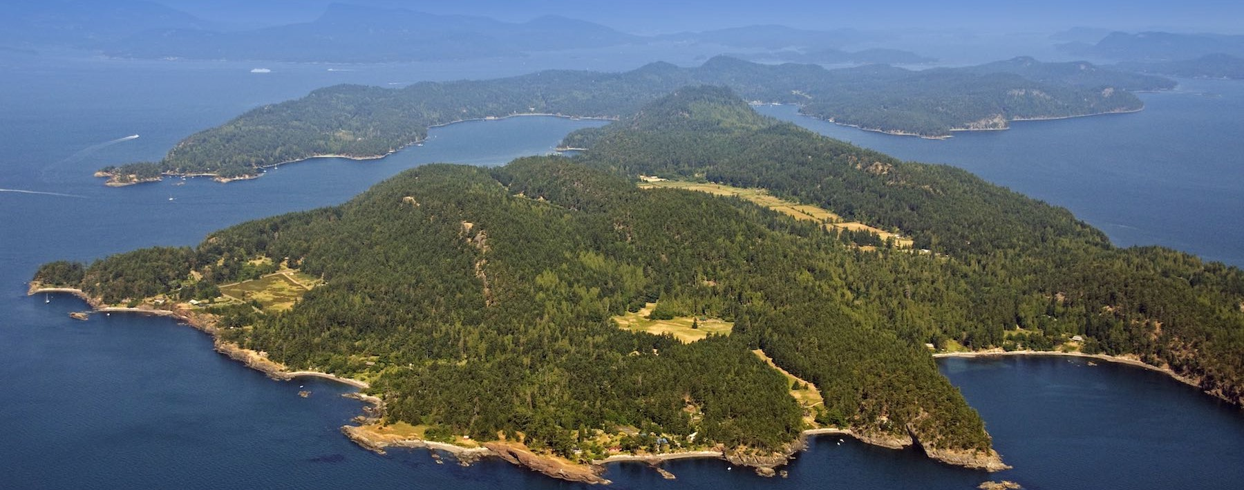 Pender Islands aerial view